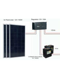 kit solar 12v 10w 7